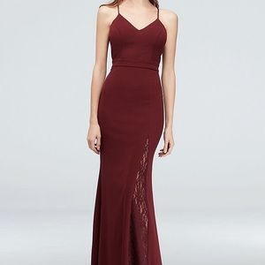 David's Bridal Wine colored dress size 14